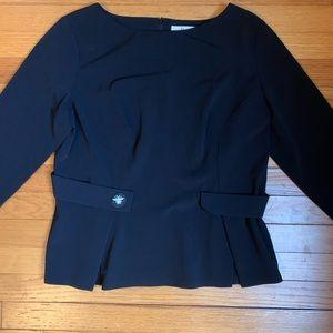 Dior Uniform Peplum Top w/ Bee